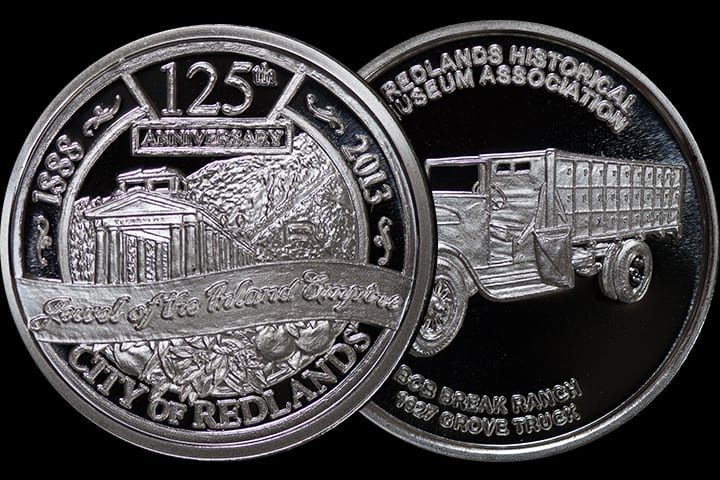 Redlands' 125th Anniversary Commemorative Medal - Silver